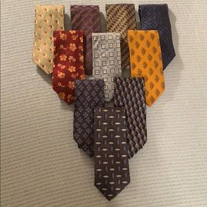 FANTASTIC LOT OF 10 ZEGNA TIES. MADE IN ITALY
